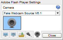Livevideo Webcam: 4 - Select 'Webcam Simulator Source V6.3' from the dropdown list.