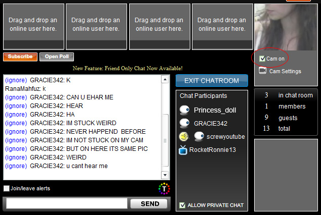 Livevideo Webcam: 6 - Now check on 'Cam on'.